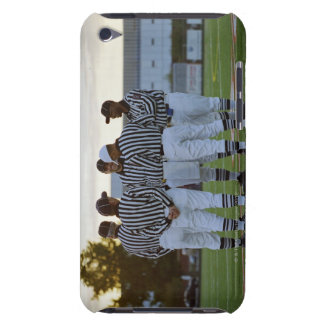 American football referees talking in field Case-Mate iPod touch case