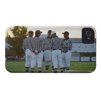 American football referees talking in field iPhone 4 Case-Mate case