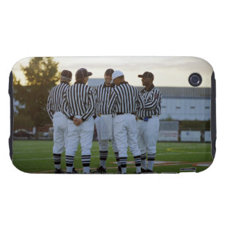 American football referees talking in field tough iPhone 3 case