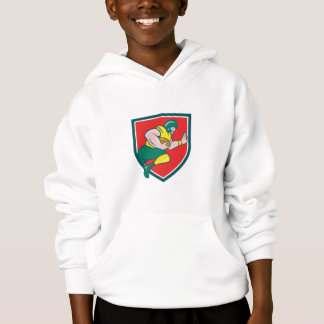 American Football Running Back Charging Crest Cart Hoodie