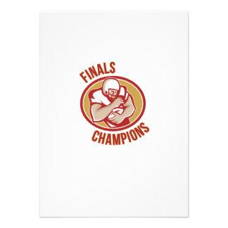 American Football Running Back Finals Champions Announcement