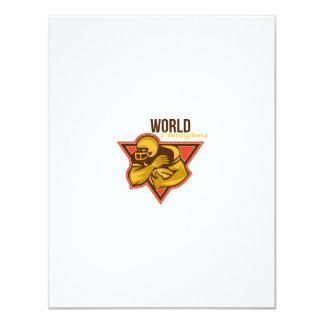 American Football Running Back World Champions Card