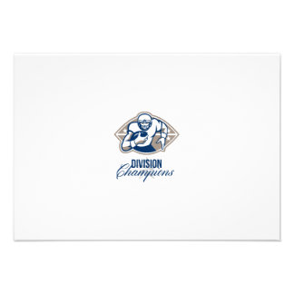 American Football Runningback Division Champions Personalized Invites