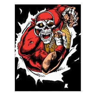 American Football Skeleton Player Postcard
