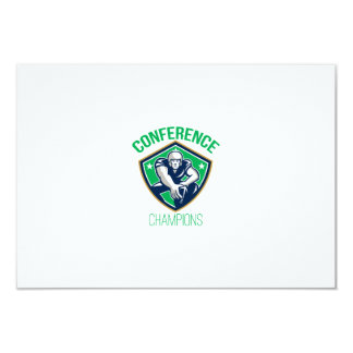 American Football Snap Conference Champions 9 Cm X 13 Cm Invitation Card