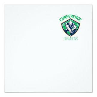 American Football Snap Conference Champions 13 Cm X 13 Cm Square Invitation Card
