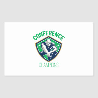 American Football Snap Conference Champions Rectangle Sticker