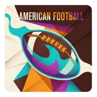 American Football Sport Ball Abstract Card