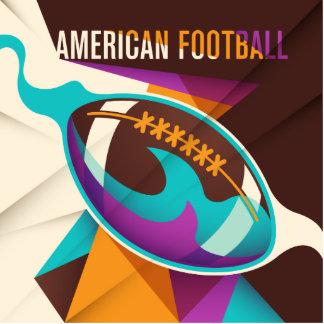 American Football Sport Ball Abstract Cutout