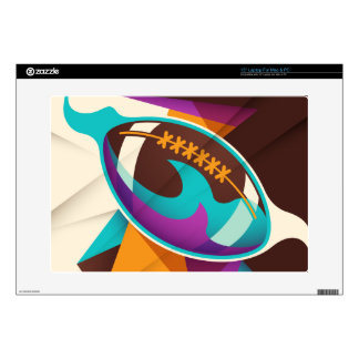 """American Football Sport Ball Abstract Decal For 15"""" Laptop"""