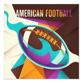 American Football Sport Ball Abstract Magnetic Card