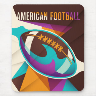 American Football Sport Ball Abstract Mouse Pad