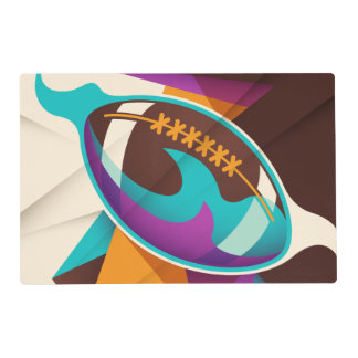 American Football Sport Ball Abstract Placemat