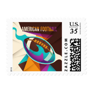 American Football Sport Ball Abstract Postage