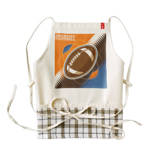 American Football Sport Ball Game Zazzle HEART Apron