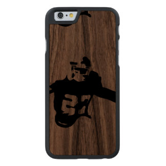American Football Sports Scene Carved Walnut iPhone 6 Case