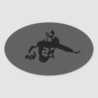 American Football Sports Scene Oval Sticker