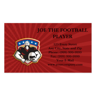 American Football Tackle Linebacker Helmet Shield Business Cards