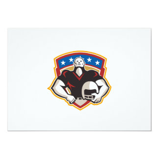 American Football Tackle Linebacker Helmet Shield Invitations
