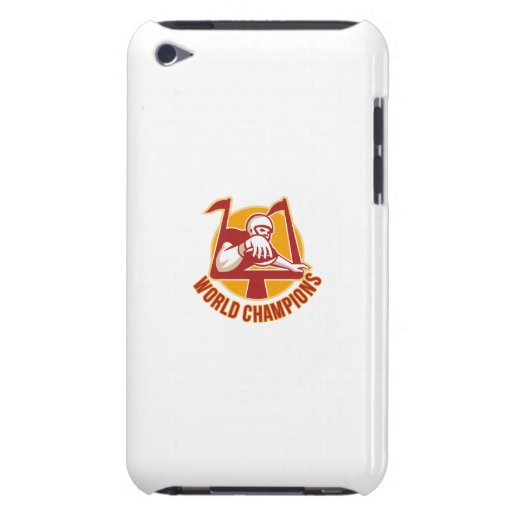American Football Touchdown World Champions Barely There iPod Cases