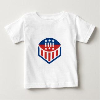 American Football USA Flag Crest Icon Baby T-Shirt