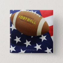 American football with the US flag Button