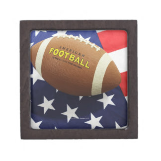 American football with the US flag Jewelry Box