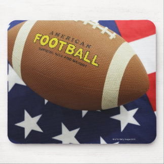 American football with the US flag Mouse Pad