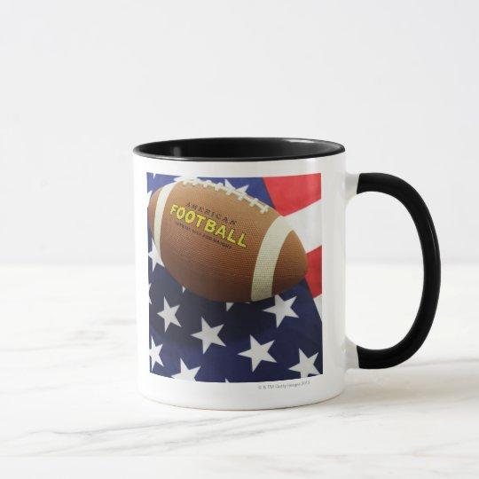 American football with the US flag Mug