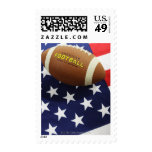 American football with the US flag Postage Stamps