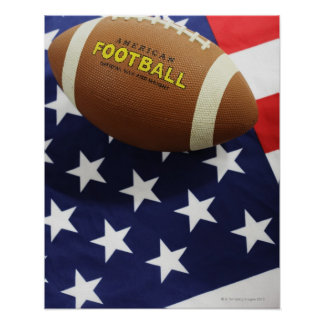 American football with the US flag Poster