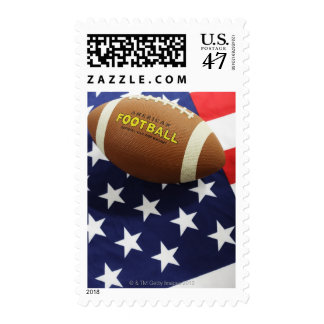 American football with the US flag Stamp