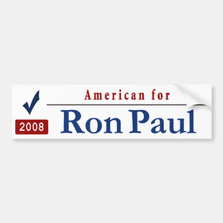 American for Ron Paul Car Bumper Sticker