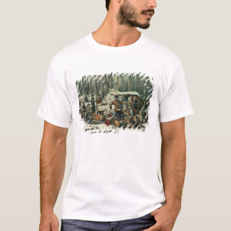 American Forest Scene - Maple Sugaring, 1856 T-Shirt