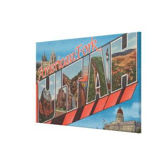 American Fork, Utah - Large Letter Scenes Canvas Print