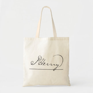 American Founding Father Patrick Henry's Signature Tote Bag