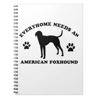 American Fox Hound dog breed Notebook