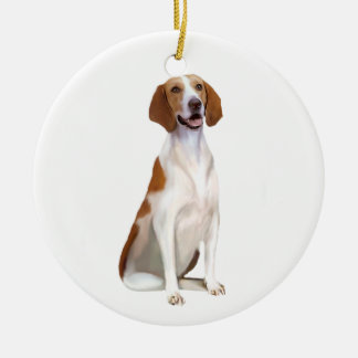 American Foxhound (A) Ceramic Ornament