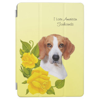 American Foxhound and Yellow Roses iPad Air Cover