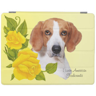American Foxhound and Yellow Roses iPad Cover