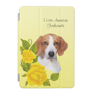American Foxhound and Yellow Roses iPad Mini Cover