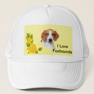 American Foxhound and Yellow Roses Trucker Hat