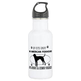 AMERICAN FOXHOUND best friend designs 18oz Water Bottle