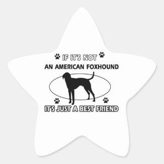 AMERICAN FOXHOUND best friend designs Star Sticker
