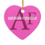 American Foxhound Breed Monogram Ceramic Ornament