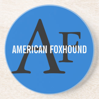 American Foxhound Breed Monogram Drink Coaster