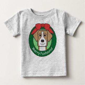 American Foxhound Christmas Baby T-Shirt