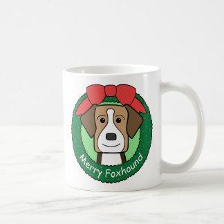 American Foxhound Christmas Mugs
