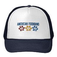 AMERICAN FOXHOUND DAD Paw Print Hat
