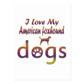 American foxhound designs postcard